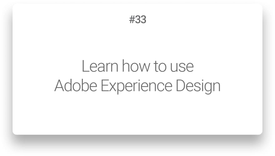 Learn how to use Adobe Experience Design