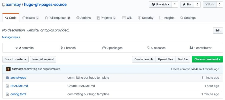 source project pushed to Github