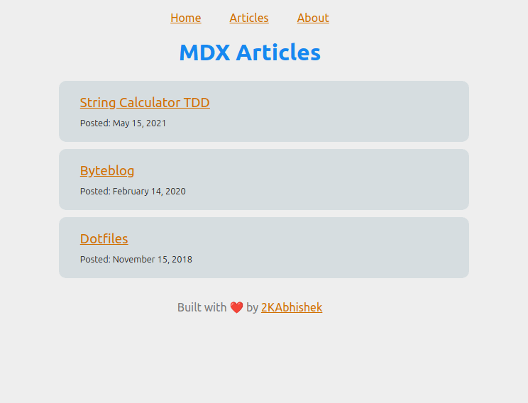 MDX Blog Screenshot