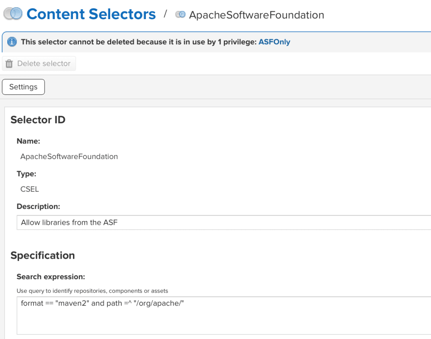 ASF Content Selector