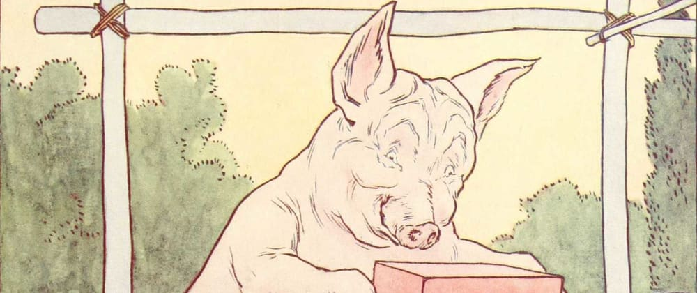 Cover image for JS Fairy Tales #1 Three little variable pigs.