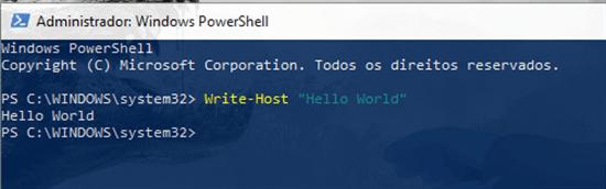 Write-host
