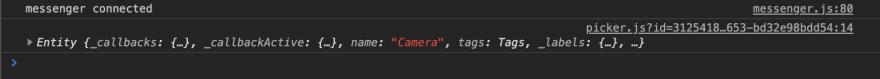 Console log for camera