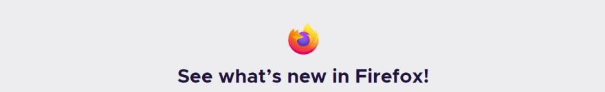 Firefox 79 announcement banner