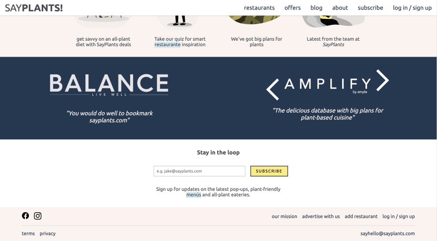 SayPlants Landing Page 3
