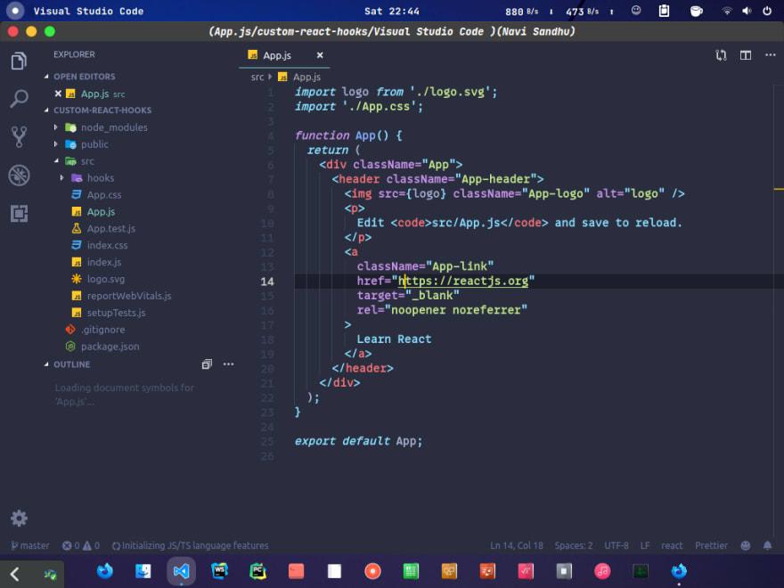 Vs code folder structure