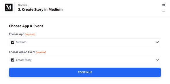 Zapier Medium App