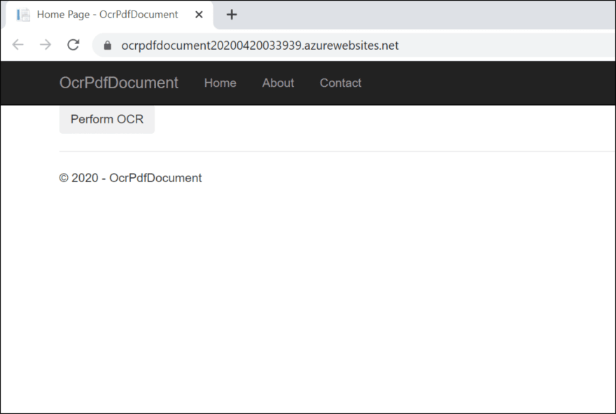 Perform OCR PDF Document
