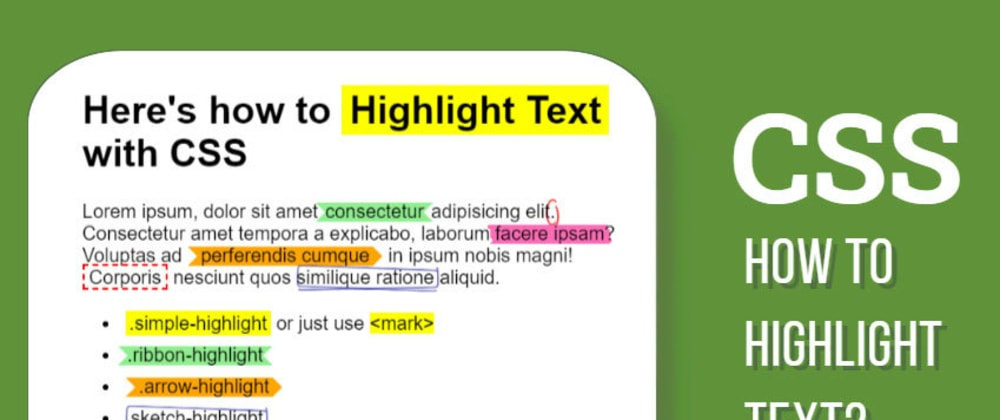 Cover image for CSS Highlight Text