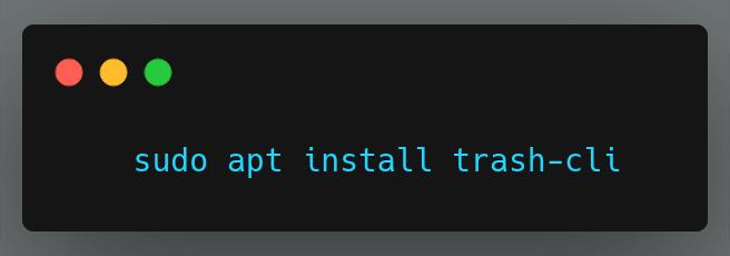 trash-cli install