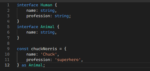 A type error not highlighted by Typescript due to the cast
