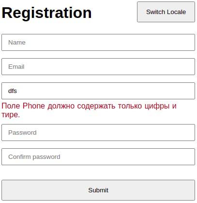 Registration Form with Vue.js.