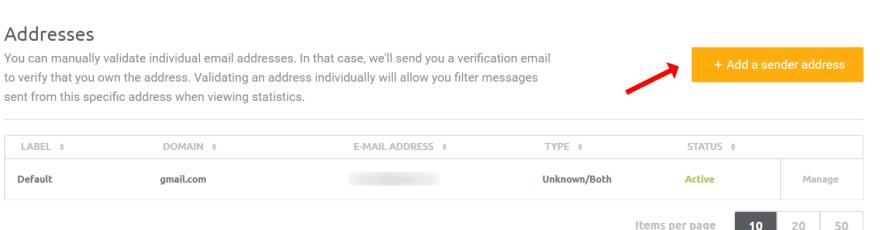 Create sender address