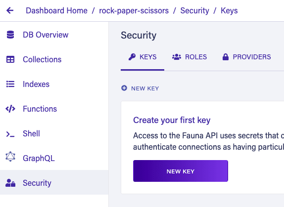 Security new key