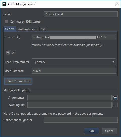 MongoDB Plugin - Atlas Connection