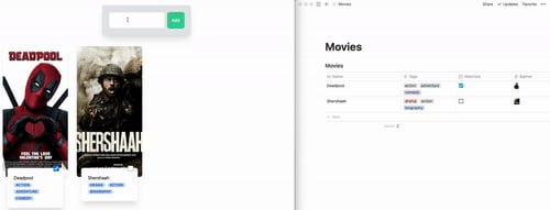 Creating a Notion page through a Node express app