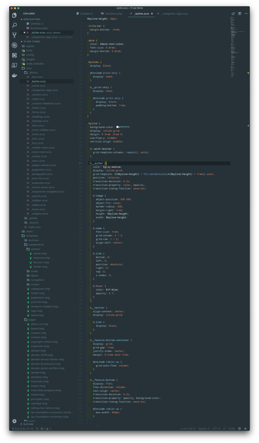 VS Code vertical