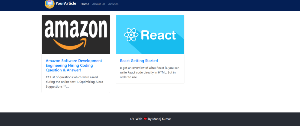 Cover image for I Created Responsive Blog Website Using React, NodeJS, and MongoDB