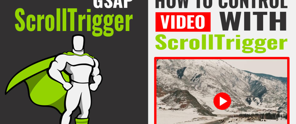 Cover image for How to control video with ScrollTrigger   GSAP Animation
