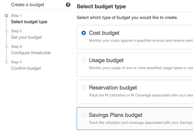 4 types of budget