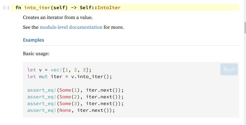 IntoIter Method