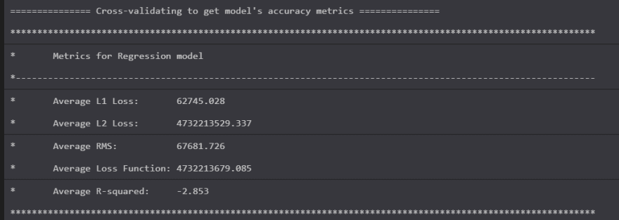 Shows metrics for the FastTree trainer that are awful, but not as awful as the commandline report