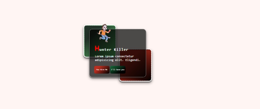 Cover image for Skelton Hunter Card | Design to Html CSS Begginers