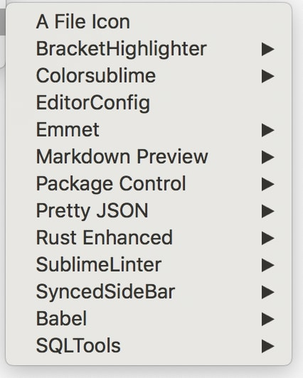 sublime text 3 extensions