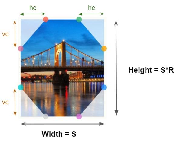 Octagon shape clip-path