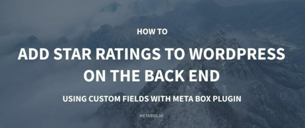 Cover image for Add Star Ratings to WordPress on the Backend Using Custom Fields