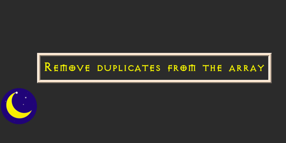 How to remove duplicate elements from array javascript - DEV