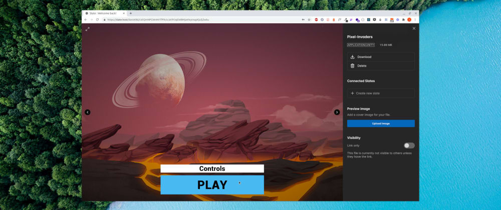 Cover image for How to upload and play Unity WebGL games on IPFS using Slate
