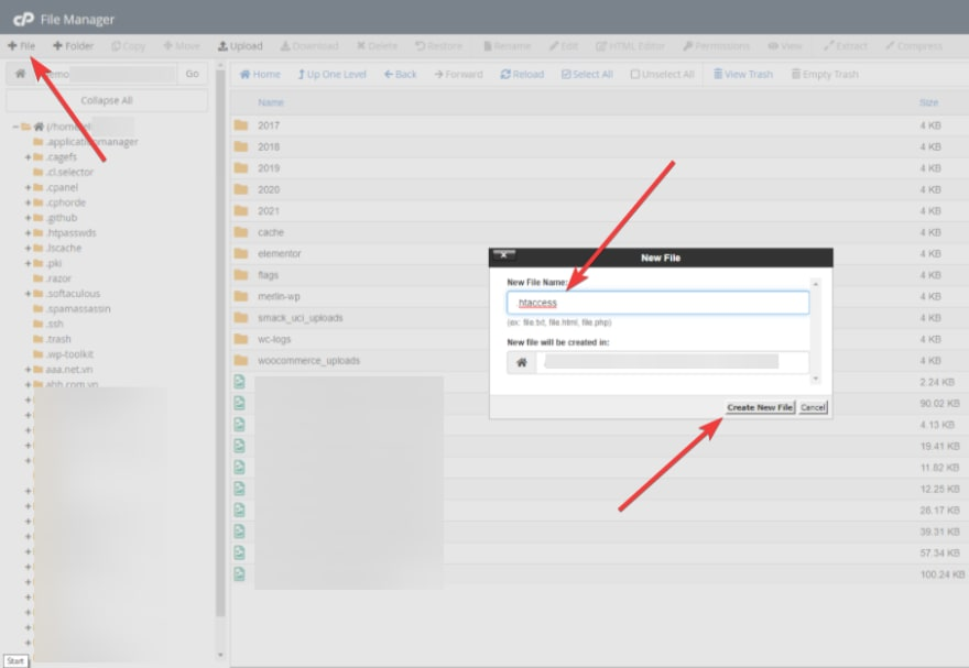 Create a new .htaccess file to disable PHP execution