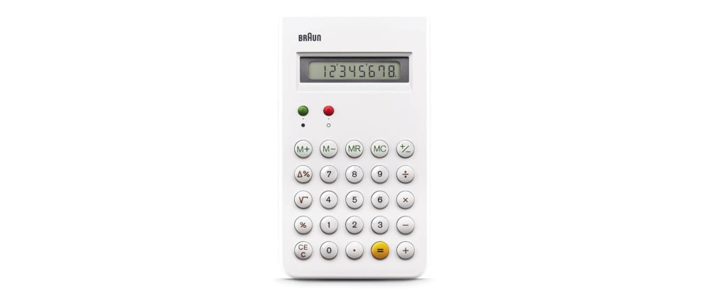 Cover image for CSS Calculator: Dieter Rams Calculator with CSS