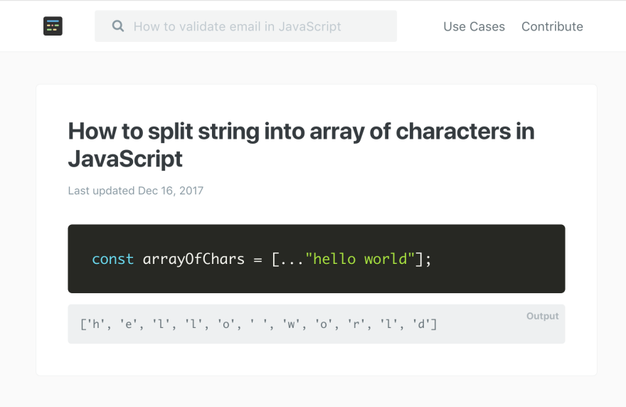 how to split a string into array of characters in JavaScript