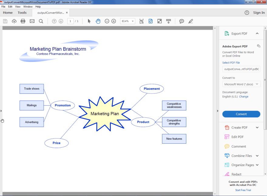 Output PDF generated by Aspose.Diagram from Microsoft Visio document.