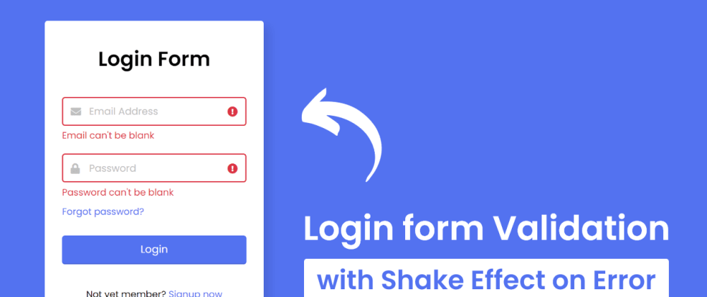 Cover image for Login Form Validation in HTML CSS & JavaScript