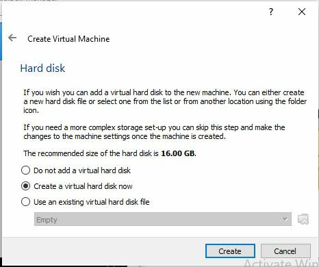 Choose how you want to set up the hard disk