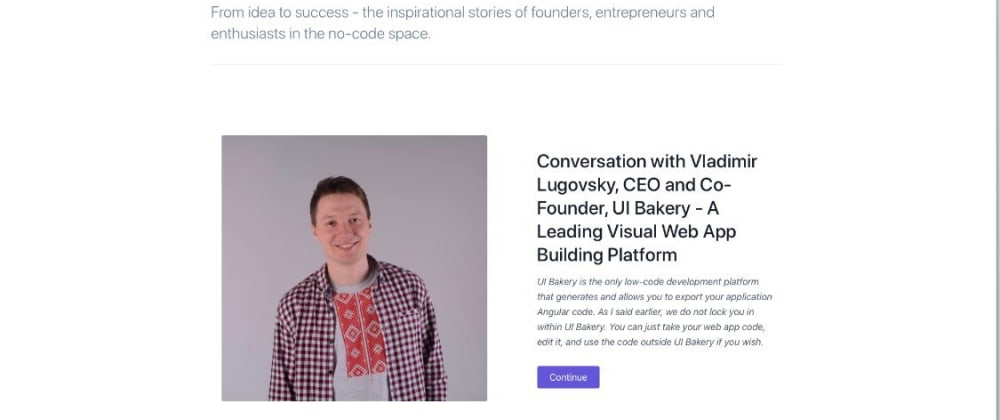 Cover image for Low-Code Tech Startup Story & Product Development Tips from CEO
