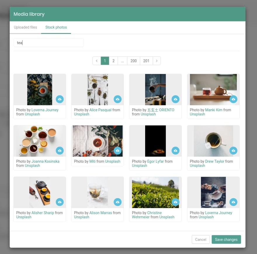 Stock photos media library