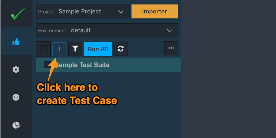 vREST NG - Plus icon to create Test Case
