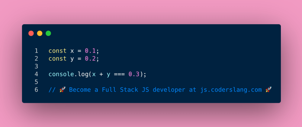 Cover image for JavaScript Interview Question #14: 0.1 + 0.2 = ?