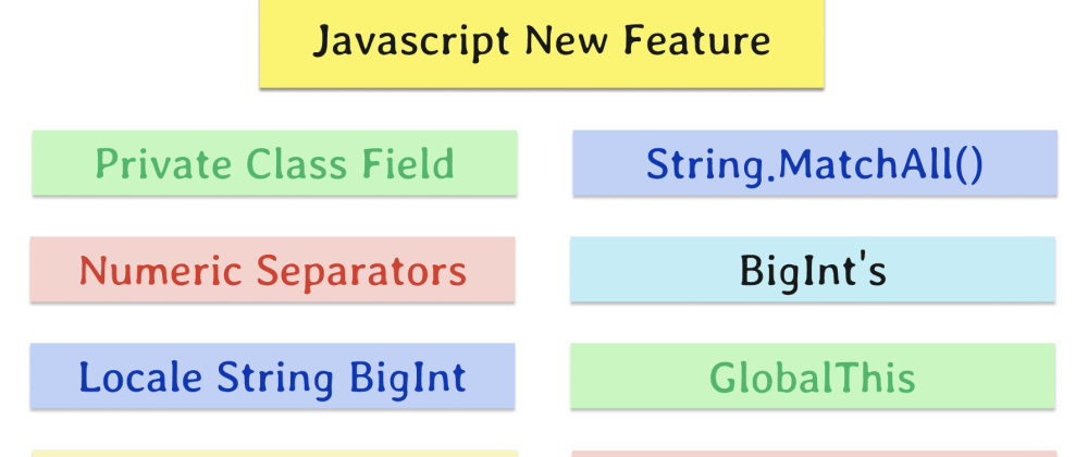 Cover image for Javascript features you might not know in 2019-2020