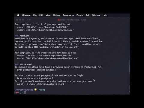 Install Postgresql on MacOS 10.15 Catalina