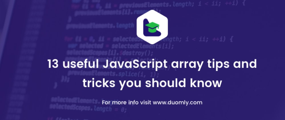Cover image for 13 useful JavaScript array tips and tricks you should know