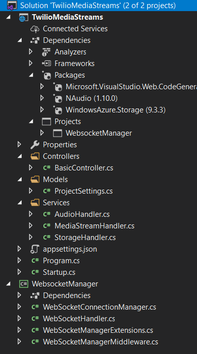 screenshot showing complete solution files
