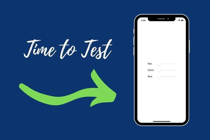Section image about testing