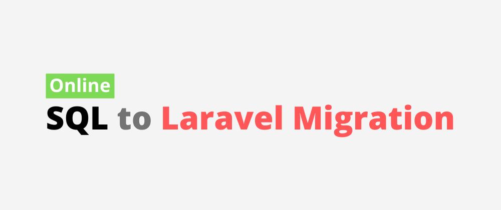 Cover image for Online Laravel migration!