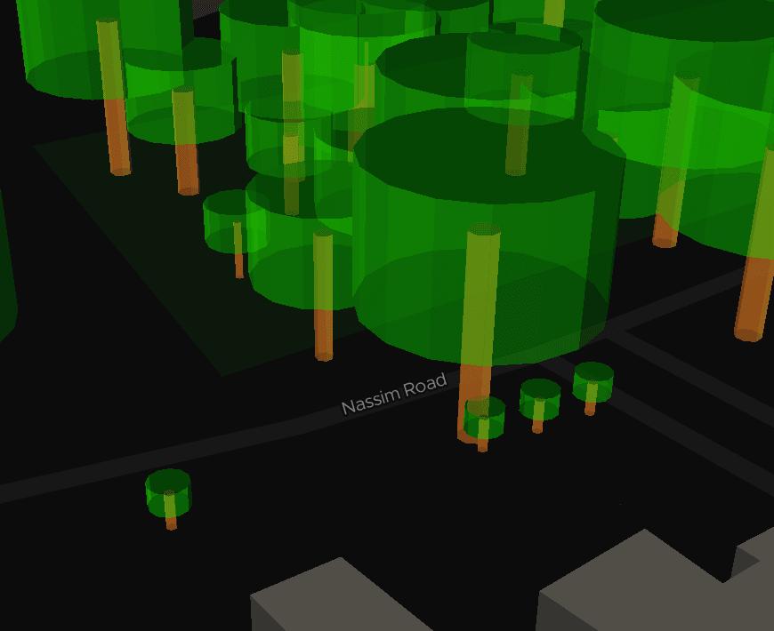 ExploreTrees.SG faux 3D trees — cute tiny trees
