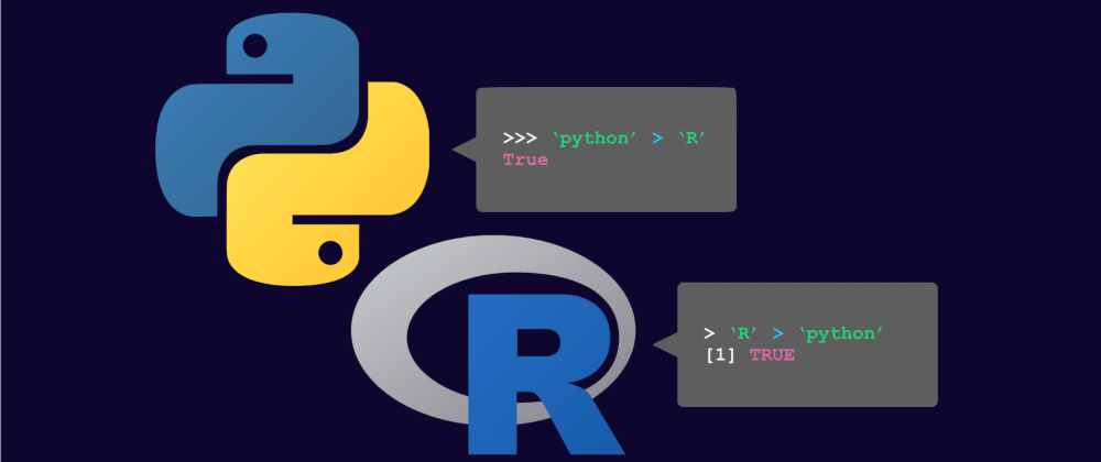 Cover image for Choosing between R and Python... by asking the languages themselves